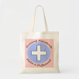 "Nursing Assistant Gifts ""Making a Difference"" Budget Tote Bag"