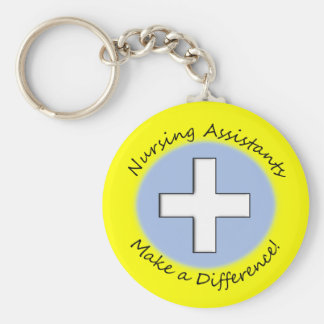"Nursing Assistant Gifts ""Making a Difference"" Keychain"