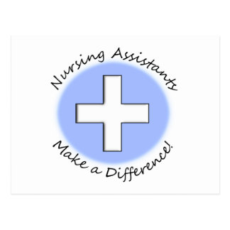 "Nursing Assistant Gifts ""Making a Difference"" Postcard"