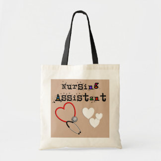 Nursing Assistant Tote Bag Hearts