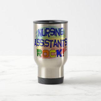 Nursing Assistants ROCK 15 Oz Stainless Steel Travel Mug