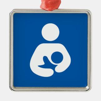 Nursing / Breastfeeding Symbol Metal Ornament