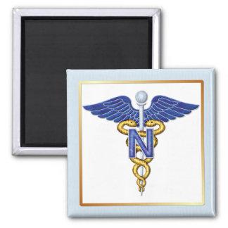 Nursing Caduceus Fridge Magnet