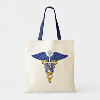 Nursing Caduceus Tote Bag