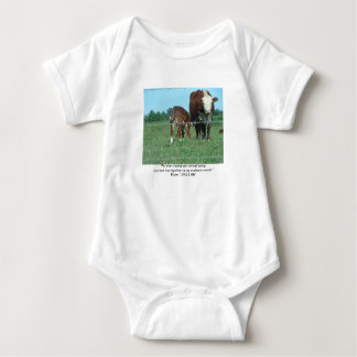 """Nursing Calf, """"For you created my inmost being;... Baby Bodysuit"""