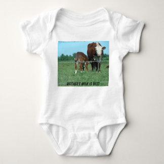 Nursing Calf, Mother's Milk Is Best Baby Bodysuit
