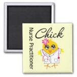 Nursing Career Chick Nurse Practitioner 2 Inch Square Magnet