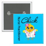 Nursing Career Chick Nurse Practitioner 2 Inch Square Button