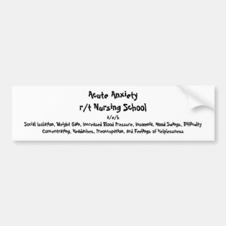 Nursing Diagnosis Bumper Sticker