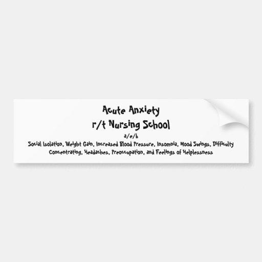 Nursing Diagnosis Bumper Sticker