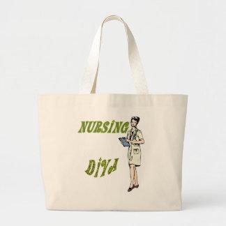 Nursing Diva Large Tote Bag