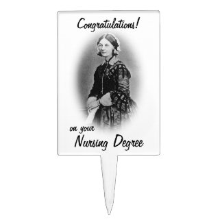 Nursing Grad Congratulations!-Florence Nightingale Rectangle Cake Pick