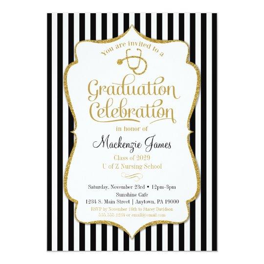 Nursing Graduation Party Invitation Nurse School