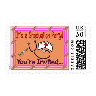Nursing Graduation Party Invitations Postage