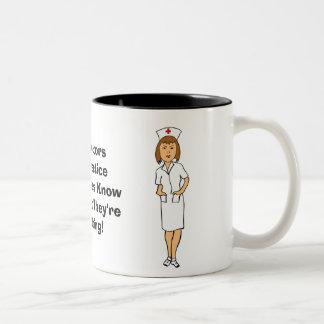 Nursing Humor Two-Tone Coffee Mug