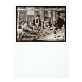 Nursing in a Bombed Building 5.5x7.5 Paper Invitation Card