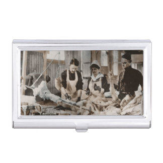 Nursing in a Bombed Building Business Card Case