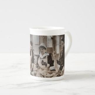 Nursing in Bombed Building Tea Cup
