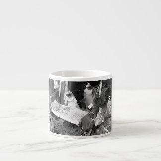Nursing In Bombed Building WWII Espresso Cup