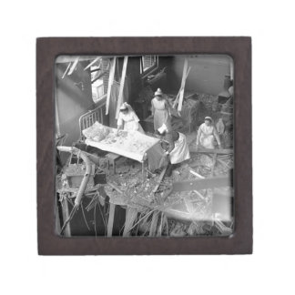 Nursing In Bombed Building WWII Gift Box