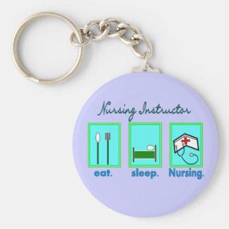 "Nursing Instructor ""Eat, Sleep Nursing"" Gifts Keychain"
