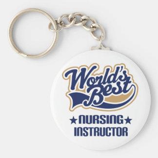 Nursing Instructor Gift Basic Round Button Keychain