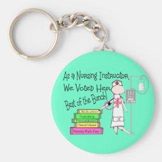 NURSING INSTRUCTOR Gifts Basic Round Button Keychain