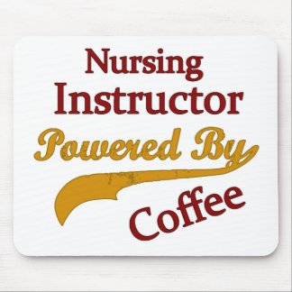 Nursing Instructor Powered By Coffee Mouse Pad