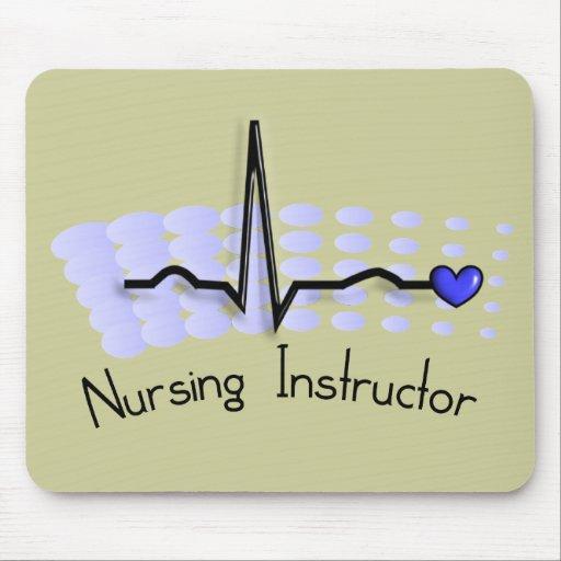 Nursing Instructor QRS Blue Mouse Pad