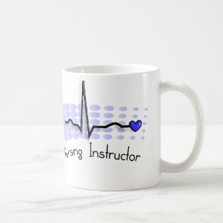 Nursing Instructor QRS Blue Classic White Coffee Mug