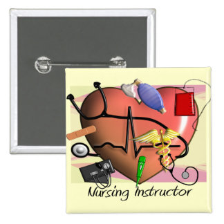 Nursing Instructor Thank You Gifts 2 Inch Square Button