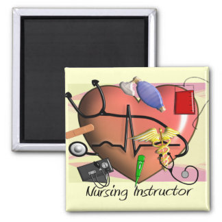 Nursing Instructor Thank You Gifts 2 Inch Square Magnet