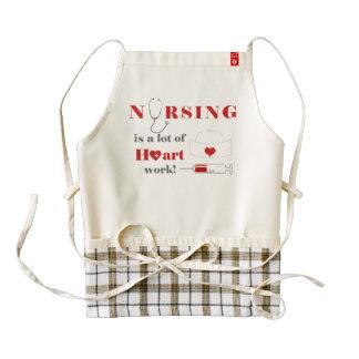 Nursing is a lot of heartwork zazzle HEART apron