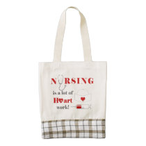 Nursing is a lot of heartwork zazzle HEART tote bag