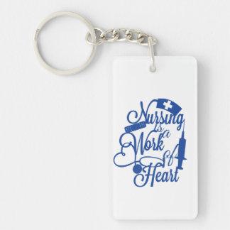 Nursing is a work of heart Keychain