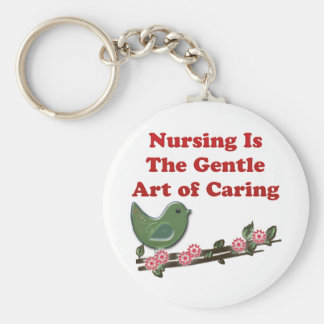 Nursing Is Caring Keychain