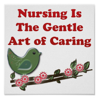 Nursing Is Caring Poster