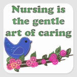 Nursing Is Caring Square Stickers