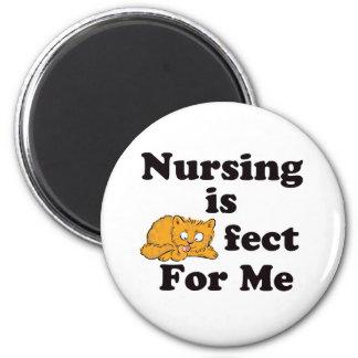 Nursing is Purrr-fect For Me 2 Inch Round Magnet