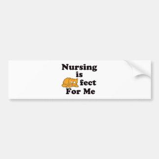 Nursing is Purrr-fect For Me Car Bumper Sticker