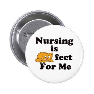 Nursing is Purrr-fect For Me Pinback Button