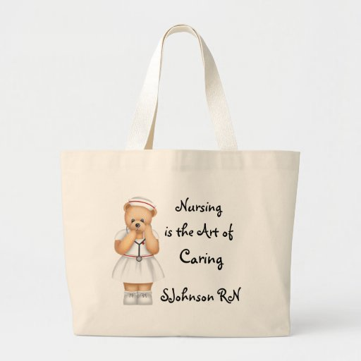 Nursing is the Art of Caring Canvas Bag