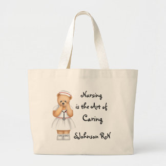 Nursing is the Art of Caring Large Tote Bag