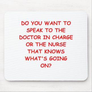 nursing joke mouse pad