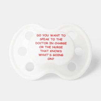 nursing joke baby pacifiers