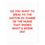 nursing joke postcard