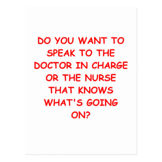 nursing joke postcard