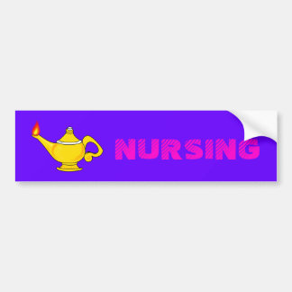 Nursing Lantern Bumper Sticker