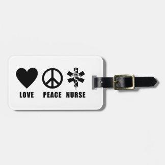 Nursing Love Peace Nurse Tags For Luggage