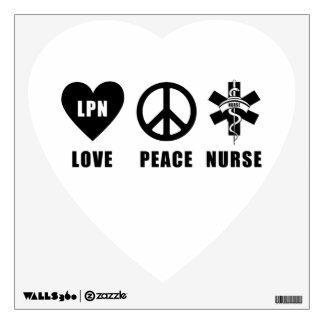 Nursing LPN Love Peace Nurse Wall Graphics